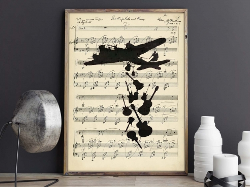 Make Music, Not War - FineArt-Poster