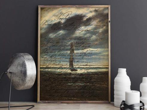 Seestück bei Mondschein - FineArt-Poster