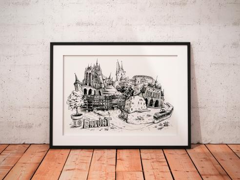 Art print - crooked Erfurt
