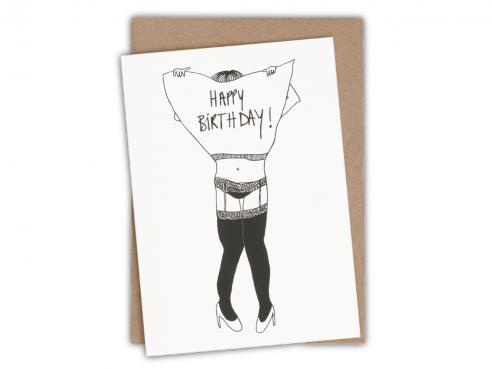 Greeting card - happy birthday - jartelle girl