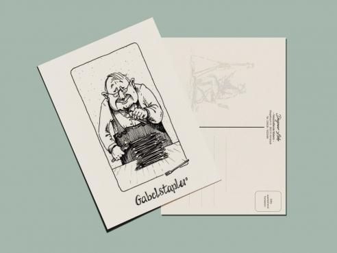 Postkarte - Gabelstapler