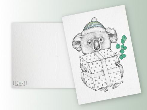 Postkarte - Koalalala