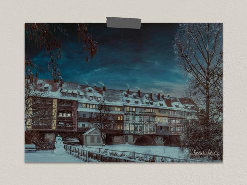 Krämerbrücke im Winter