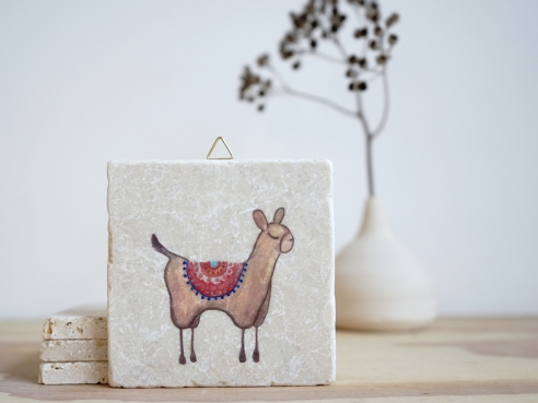 Lama - hellbraun