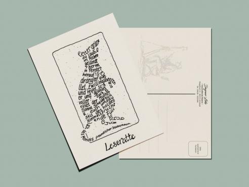 Postcard - Reading Rat
