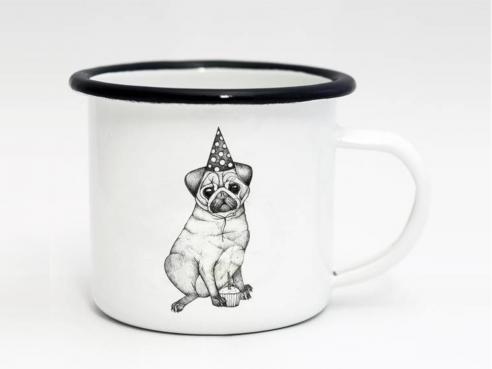 Enamel cup - Pug