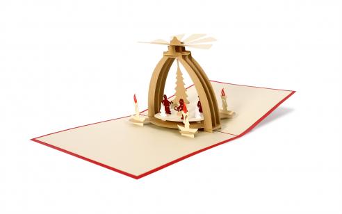 3D PopUp Karte - Tischpyramide