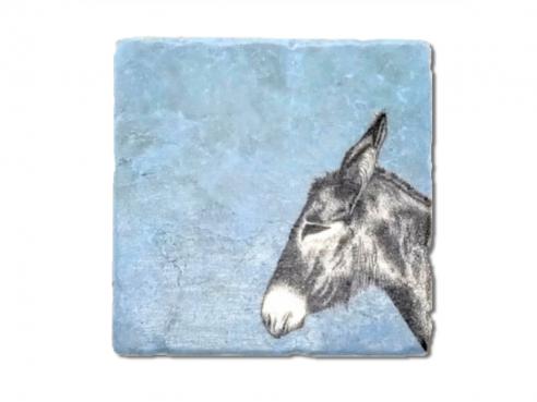 Illustrated tile - donkey