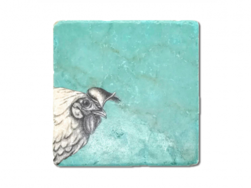 Illustrated tile - chicken