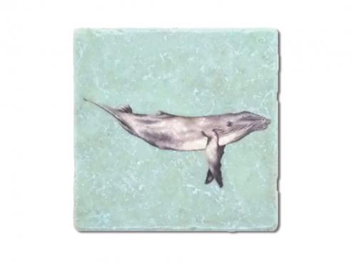 Illustrierte Fliese - Wal