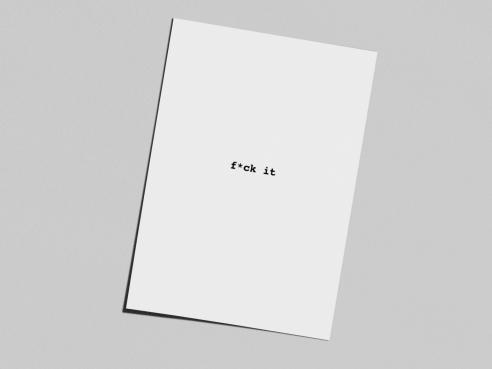Postkarte - f*ck it
