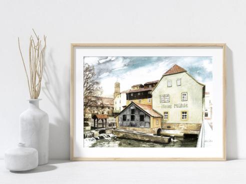 Kunstdruck -  Neue Mühle