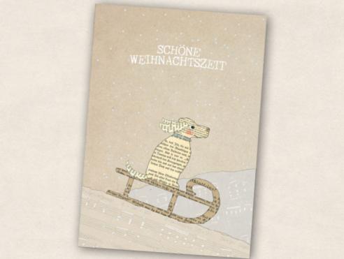 Postkarte - Schlittenhund