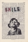 Preview: Banksy's SMILE - Print on antique book page