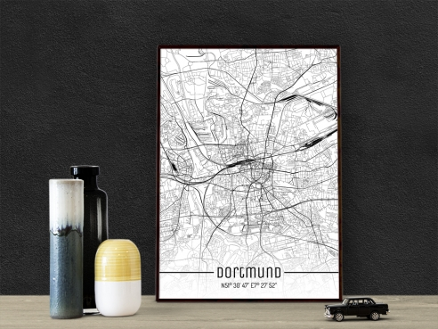 City Map of Dortmund - Just a Map