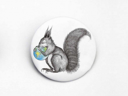 Magnet - squirrel and world