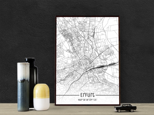City Map of Erfurt - Just a Map