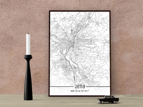 City Map of Jena - Just a Map