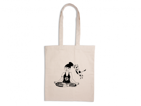 Tote bag - zen with cats