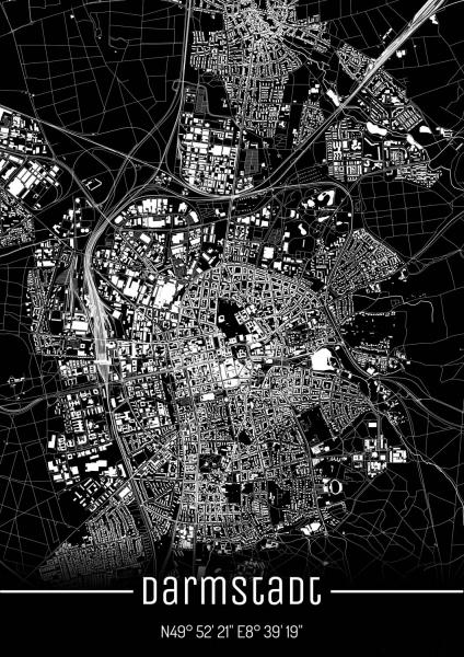 Darmstadt City Map
