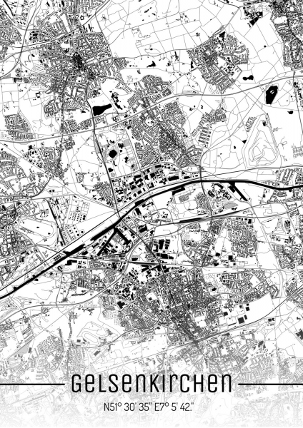 Gelsenkirchen City Map