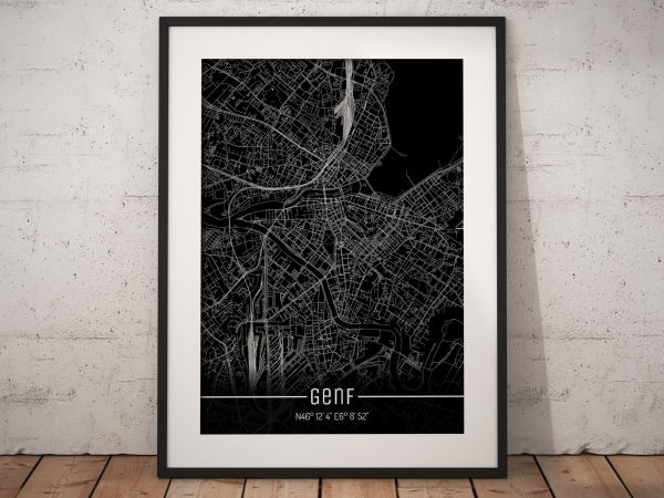 Genf City Map