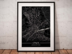Stadtplan Erfurt - Just a Black Map